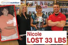Nicole lost over 30 pounds with our help at Complete Nutrition! Complete Nutrition, Weight Loss Success Stories, Lost, Fitness, People, Gymnastics, People Illustration, Rogue Fitness