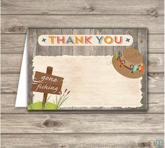 Fishing Boy Birthday Thank You Cards