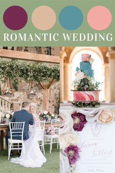This color palette is perfect for those bride's who want a romantic themed wedding! Wedding Theme Inspiration, Wedding Themes, Wedding Colors, Wedding Events, Orlando Wedding Venues, Florida Wedding Venues, Tuscan Wedding, Interior Design Inspiration, Perfect Wedding