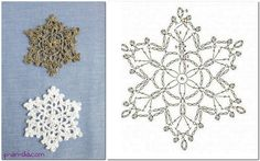 Сrochet snowflake free pattern chart diagram  Снежинки со схемами - мои фавориты этого года