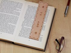 Te Amo Bookmark Hand Tooled Leather Bookmark by TinasLeatherCrafts. Repin To Remember.