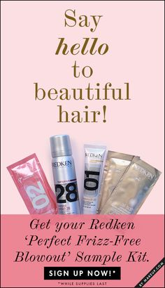 Giveaway: Sample Redken Frizz-Free Blowout Kit Now!