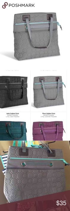 Versatile thirty one tote Brand new never used. Pretty teal and grey Bags Totes
