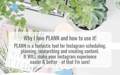 Why I love PLANN, and how to use it. Image Infographics, Color Balance, Live In The Now, My Images, Being Used, Instagram Feed, My Love, White Balance