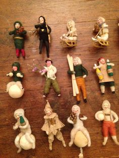 Antique Spun Cotton Christmas Ornaments