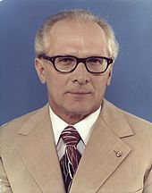 Erich Honecker, leader of East Germany, in 1976