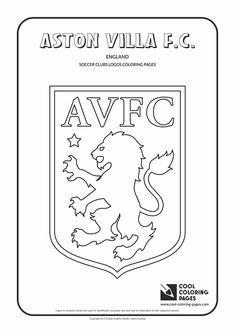 Aston Villa F.C. logo coloring / Coloring page with Aston Villa F.C. logo…