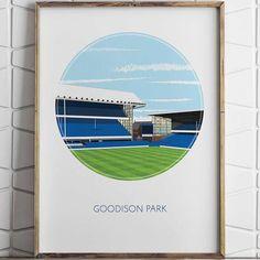 Goodison Park @turffootballshirt  Link in bio  #everton #efc #evertonfc #goodisonpark #art #footballart #footballshirtcollective