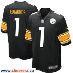 db48f77bd Nike Pittsburgh Steelers  1 Terrell Edmunds Black 2018 NFL Draft Pick Elite Jersey  Pittsburgh Steelers