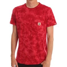 Fly53 Red Supernaut Tie Dye Tee www.ark.co.uk #90s #tiedye #red #tee
