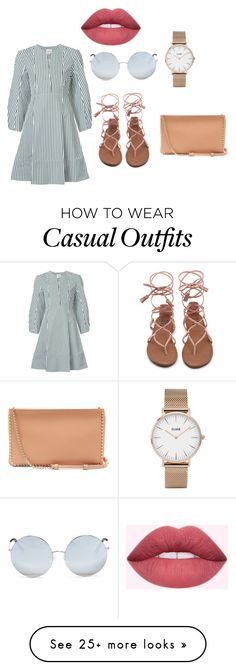 """""""Casual"""" by bianca-salazar97 on Polyvore featuring Khaite, Matthew Williamson, CLUSE and Christian Louboutin"""