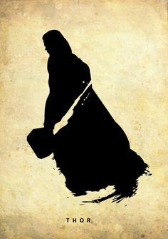 thor1 750x1067 Silhouetted Superheroes