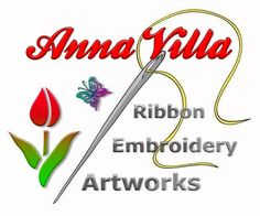 Anna Villa 3D Ribbon Embroidery Paintings and Artworks