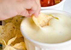 Crock-Pot Queso Blanco Dip  *Just like the white cheese dip you get at Mexican Restaurants!* I love this stuff!