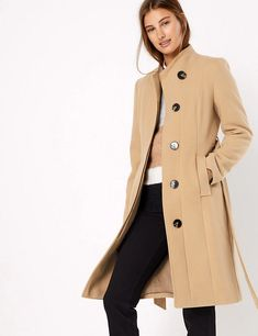 Shop this Soft Touch Wrap Coat at Marks & Spencer. Browse more styles at Marks & Spencer.Now shoppable with Afterpay* AU Knitted Christmas Jumpers, Long Winter Coats, Fashion Forecasting, Modest Wear, Wrap Coat, Swagg, Coats For Women, Cool Outfits, Winter Outfits
