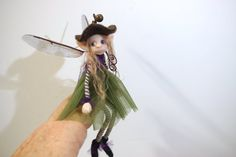 ooak poseable WOODLAND common pixie fairy 87 polymer clay