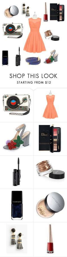 """""""Untitled #130"""" by sooou ❤ liked on Polyvore featuring Estée Lauder, MAC Cosmetics, Inglot, Illamasqua, Cover FX, Talbots, Carolina Bucci and statementbags"""