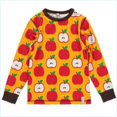 Maxomorra Shirt Äpfel orangegelb/rot - LolaKids