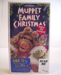 VHS Muppet Family Christmas 1995 Movie Film Jim Henson Kermit Miss Piggy Fozzie Bear Rare Video NTSC #35E by AdriennesAtticStore on Etsy