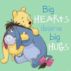 Grandes corazones merecen grandes abrazos.                                                                                                                                                                                 Más