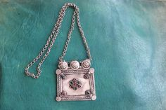 AFGHANISTAN  Kuchi tribal silver necklace by TurkishFolkArts