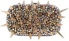 Giuseppe Zanotti Design Spiked clutch on bagservant.co.uk