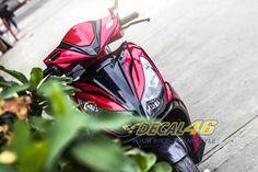 Tem xe Honda Airblade 125 - 018 - Tem xe thiết kế Matte Black Air Blade, Matte Black, Honda, Motorcycle, Vehicles, Car, Automobile, Motorcycles, Motorbikes
