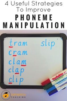 Do you know how to teach children the skill of phoneme manipulation? Being able to delete or add sounds in words is an important skill to develop as it helps students test alternatives for reading and spelling. Many students who have problems with hearing sounds in words will struggle to be able to do this at first. Here are 4 useful strategies you can use to teach your students how to manipulate sounds in words.