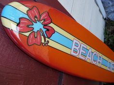 Four foot surfboard wall hanging, surfboard wall art, beach decor by FLYONEBOARDSHOP on Etsy https://www.etsy.com/listing/122260320/four-foot-surfboard-wall-hanging