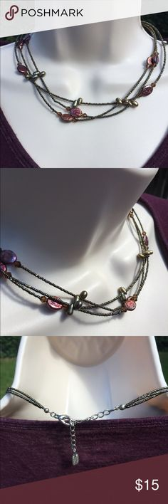 """Fall Color Choker 15"""" with 3"""" extender  very pretty colors there is not s brand  I am selling for a friend so I don't know when and wear it was bought Jewelry Necklaces"""