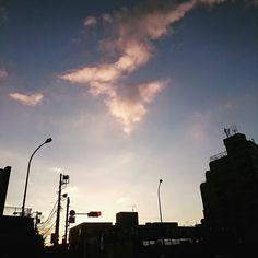 夕暮れがとても綺麗でなんだかとても幸せになる