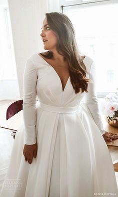 Flattering Wedding Dress, Civil Wedding Dresses, Plus Size Wedding Gowns, Wedding Dress Trends, Wedding Dress Sleeves, Dream Wedding Dresses, Designer Wedding Dresses, Bridal Dresses, Gown Wedding