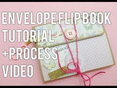 An envelope flip book made with Authentique's 'Grateful' collection. I based this flip book on a tutorial by You can find the tutorial her. Pen Pal Letters, Pocket Letters, Papel Scrapbook, Mini Scrapbook Albums, Mini Albums, Book Making, Card Making, Mini Books, Flip Books