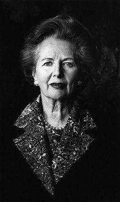 U.K. Portrait of Margaret Thatcher, Anaheim, California, 1991  // by Helmut Newton