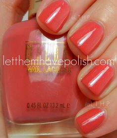 Let them have Polish!: Milani CVS Exclusives for Spring 2012 - pink and proper Coral Nails, Milani, Swatch, Makeup Looks, Nail Designs, Nail Polish, Nail Art, Spring, Beauty