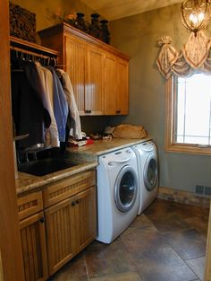 Laundry Room Laudry Room Drying Rack Design, Pictures, Remodel, Decor and Ideas Laundry Nook, Mudroom Laundry Room, Laundry Room Cabinets, Laundry Room Design, Custom Home Designs, Custom Home Builders, Custom Homes, Home Daycare, Daycare Ideas