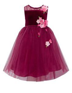 Fallon Velour Dress   Pink   Monsoon
