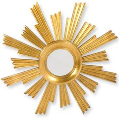 The J Peterman Company Vintage Spanish Sunburst Mirror - Stylehive Gold Sunburst Mirror, Convex Mirror, Hand Carved, Spanish, Carving, Cool Stuff, Metal, Vintage, Wood Carvings