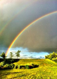 Double rainbow taken in Lomma, Sweden on June 1st 2012 - by Chris Hedgate