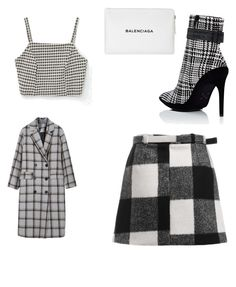"""Black and white"" by cristina-7914 on Polyvore featuring Off-White, Vichy and Balenciaga"