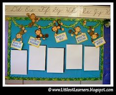 cute bulletin board theme. wild about our work and a monkey for each kid's work
