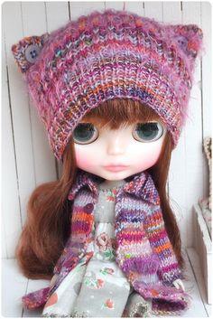 Purple button cat ears by megipupu, via Flickr