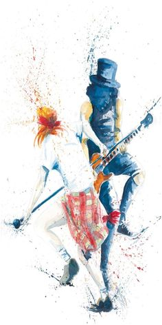 Guns And Roses, Welcome To The Jungle, Axl Rose, Rock Art, Guitar, Hero, Baby, Painting, Cave Painting