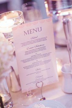 Elegant + classic wedding menu cards {Jessika Feltz Photography]