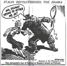 #Russia vs. #Finland cartoon from the New York Times, 3.12.1939
