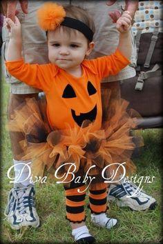 Girls Halloween Costume -Pumpkin Princess. $60.00, via Etsy.