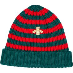 500e2dcdd1d Gucci Bee-embroidered knit beanie ( 260) ❤ liked on Polyvore featuring  men s fashion