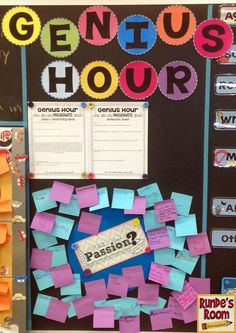 Runde's Room: Passion Projects in the Classroom - Students come up with something they are passionate about and then they get to research it. Can be done during Language Arts each Friday.