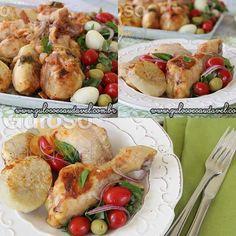 #BomDia! A dica para o #almoço é esta delicia de Coxas de Frango Assadas ao Molho de Tomate! São super rápidas e fáceis de fazer!  #Receita aqui: http://www.gulosoesaudavel.com.br/2014/11/24/coxas-frango-assadas-molho-tomate/