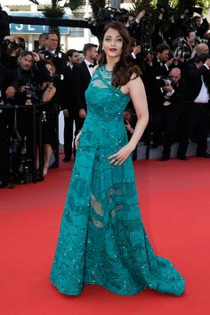Aishwarya Rai Bachchan on the red carpet at Cannes 2015.